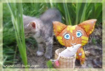 Котик и котик и маленькая мышка :)